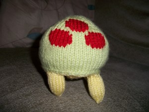 A commissioned Metroid plushie