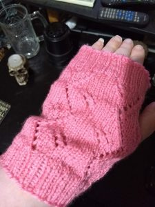 Pink Peach Blossom Mitts