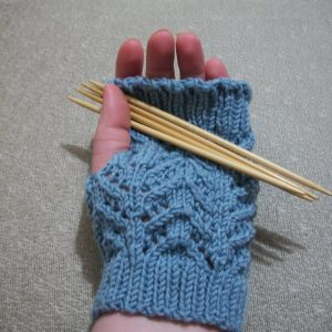 Irresistible Chevron Lace Mitts